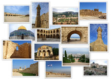 Landmarks of Ancient Israel Royalty Free Stock Images