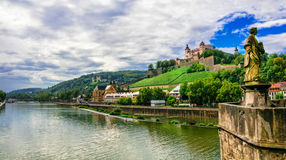 Landmarks and beautiful towns of Germany - Wurzburg Stock Images