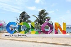 Landmarks of the City on Colon, Panama Royalty Free Stock Image