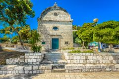 Landmarks in Dalmatia region, Island Hvar. Royalty Free Stock Images