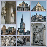 Landmarks of Dresden Royalty Free Stock Photography