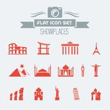 Landmarks Flat Icon Set Royalty Free Stock Images