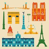Landmarks of France Stock Photography