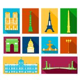 Landmarks of France Royalty Free Stock Image