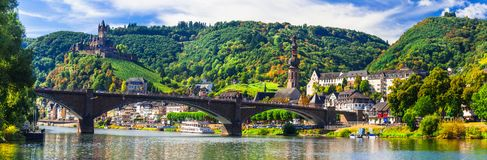 Landmarks of Germany, medieval Cochem town. royalty free stock photography