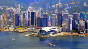 Landmarks of hong kong royalty free stock photos