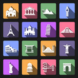 Landmarks icons Royalty Free Stock Photos
