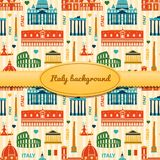 Landmarks of Italy background with space for text Stock Photos