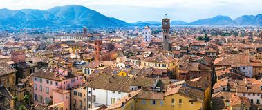 Landmarks of Italy - beautiful medieval town Lucca in Tuscany. C Royalty Free Stock Image