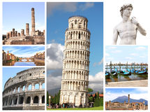 Landmarks of Italy Royalty Free Stock Image