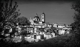 Landmarks of Italy. panoramic view of Urbino,Unesco site. Marche royalty free stock images