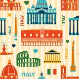 Landmarks of Italy seamless pattern Royalty Free Stock Photography