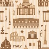 Landmarks of Italy seamless pattern Royalty Free Stock Photos