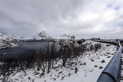 Landmarks of Lofoten islands. Beautiful Norway landscape. Royalty Free Stock Photo