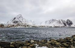 Landmarks of Lofoten islands. Beautiful Norway landscape. Stock Photography