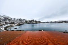 Landmarks of Lofoten islands. Beautiful Norway landscape Royalty Free Stock Photos