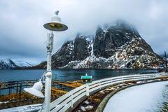 Landmarks of Lofoten islands. Beautiful Norway landscape. Royalty Free Stock Photos