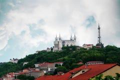 landmarks lyon Royaltyfri Bild