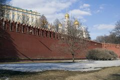 Landmarks of Moscow Kremlin. UNESCO World Heritage Site. Royalty Free Stock Images