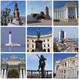 Landmarks of Odessa. Collage with landmarks of Odessa, Ukraine Royalty Free Stock Image