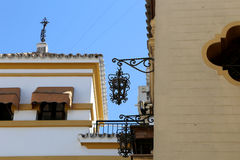 Landmarks in the old historical center of Seville (is protected by UNESCO), Andalusia, southern Spain Royalty Free Stock Images