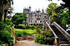Landmarks of Portugal. Palace Quinta da Regaleira in Sintra. Monuments Royalty Free Stock Image