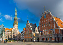 Landmarks of Riga, Latvia Royalty Free Stock Photography
