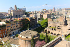 Landmarks of Rome. Beautiful View of Landmarks of Rome - Italy royalty free stock image