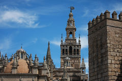 Landmarks of Seville Royalty Free Stock Photos