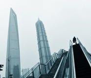 Landmarks of shanghai city Stock Photo