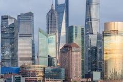 Landmarks of Shanghai,group of modern business buildings.  royalty free stock images