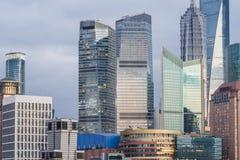 Landmarks of Shanghai,group of modern business buildings Royalty Free Stock Images