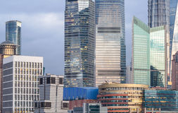 Landmarks of Shanghai,group of modern business buildings Stock Photography