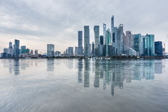 Landmarks of Shanghai with Huangpu river. In China Royalty Free Stock Image