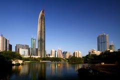 landmarks shenzhen royaltyfri bild