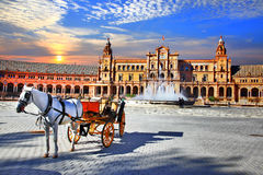 Landmarks of Spain - Seville, Andalusia. Landmarks of Spain - piazza Espana in Seville, Andalusia royalty free stock photo