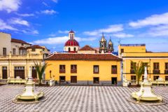 Landmarks of Tenerife, colorful town La Orotava. Canary islands of Spain stock photo