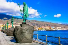 Landmarks of Tenerife - Guanche kings in Candelalaria village. stock images