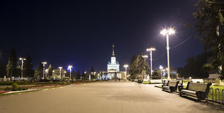 Landmarks in the territory of VDNKh All-Russia Exhibition Centre, also called All-Russian Exhibition Centerin Moscow, Russia. Landmarks in the territory of VDNKh Stock Images