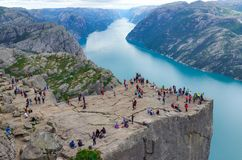 Travel, new places and famous places in Norway. Landmarks and tourist areas in norway stock photos