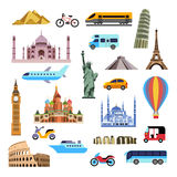 Landmarks and transports Royalty Free Stock Images