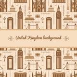 Landmarks of United Kingdom background Stock Images