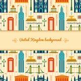 Landmarks of United Kingdom background Royalty Free Stock Photography