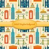 Landmarks of United Kingdom background Royalty Free Stock Image