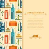 Landmarks of United Kingdom background Royalty Free Stock Photo