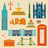 Landmarks of United Kingdom Royalty Free Stock Image