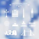 Landmarks of United Kingdom Royalty Free Stock Photo