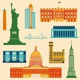 Landmarks of United States of America Stock Image