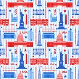Landmarks of United States of America vector Stock Photography