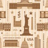 Landmarks of United States of America vector Royalty Free Stock Image